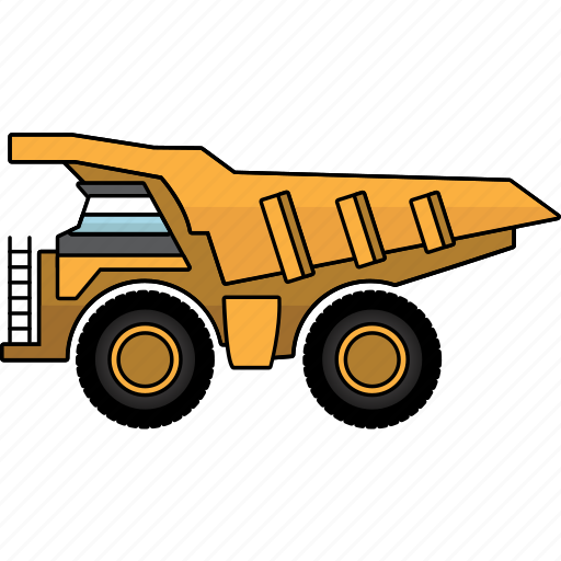 construction, earth mover, large truck, machinery, mining, mining vehicles, truck icon