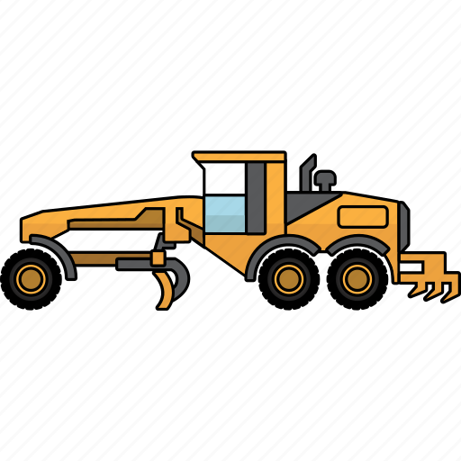 construction, earth mover, graders, mining, mining vehicles, motor, vehicle icon