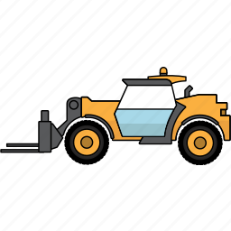 construction, earth mover, forklift, mining, mining vehicles, telehandler, vehicle icon
