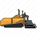asphalt, construction, earth mover, equipment, machinery, mining, mining vehicles icon