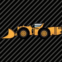 construction, earth mover, hard, mining, mining vehicles, rock, underground icon