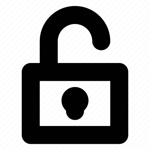 lock, padlock, secure, unlocked icon