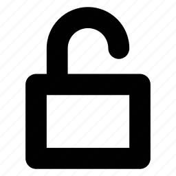 insecure, lock, open, padlock, unlocked icon