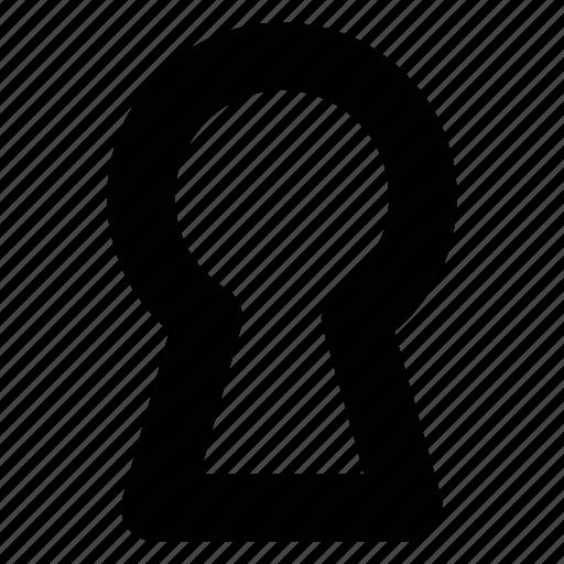 key hole, lock, padlock icon