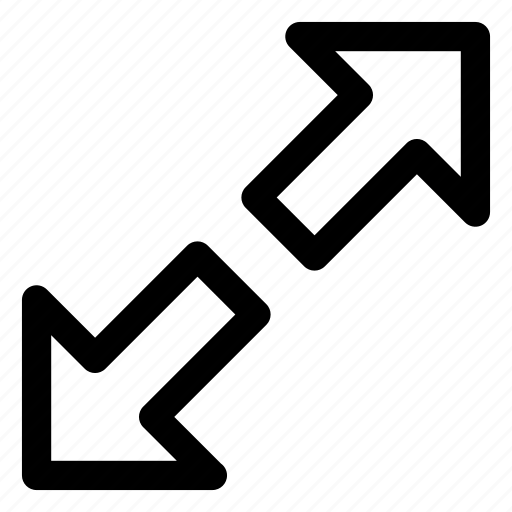 arrows, cursor, diagonal arrows, directional arrows, pointing arrow icon