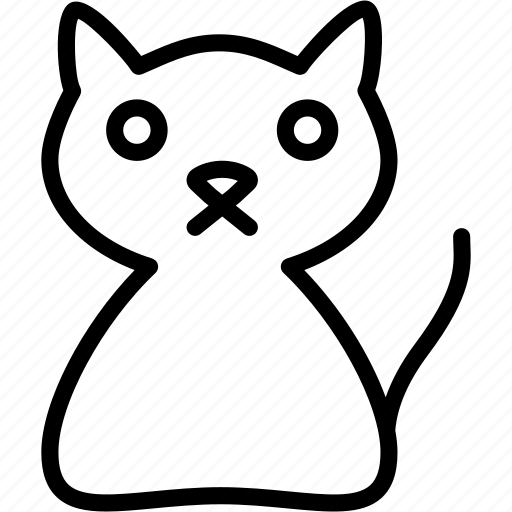 Cat, animal, face, kitty, pet, sad icon - Download on Iconfinder