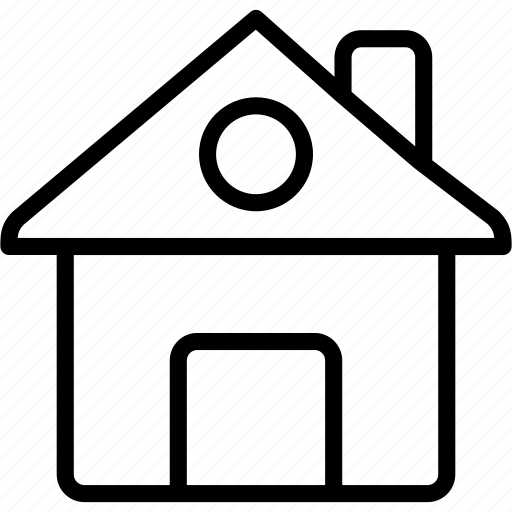 apartment, estate, home, house, hut, property, real icon