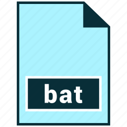 bat, file formats, misc icon