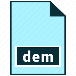 dem, file formats, misc icon