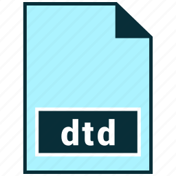 dtd, file formats, misc icon