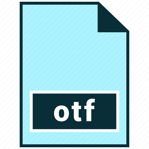 file formats, misc, otf icon