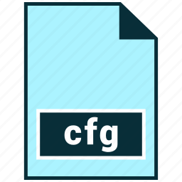cfg, file formats, misc icon