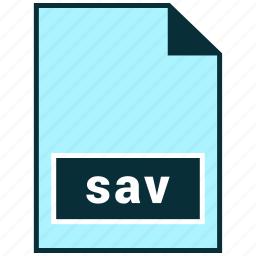 file formats, misc, sav icon