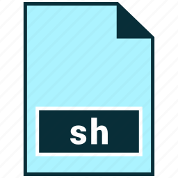 file formats, misc, sh icon