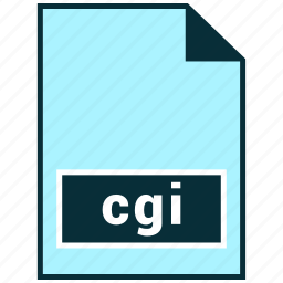cgi, file formats, misc icon