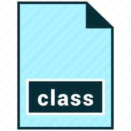 class, file formats, misc icon
