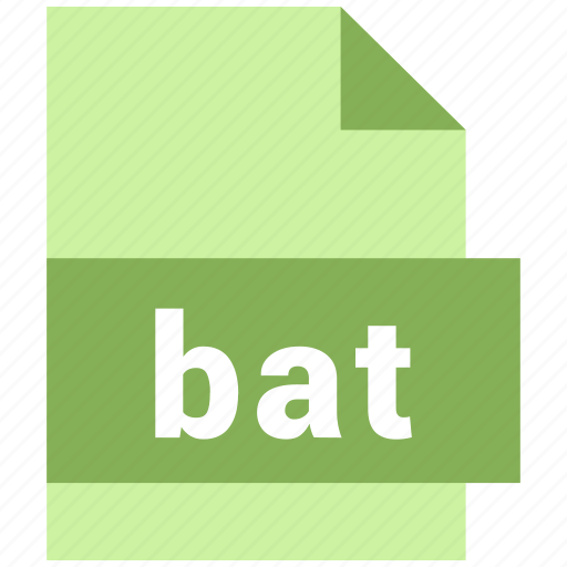 bat, misc file format icon
