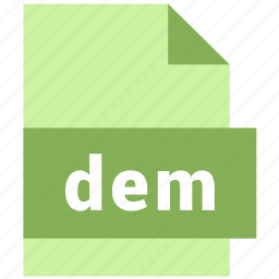 dem, misc file format icon
