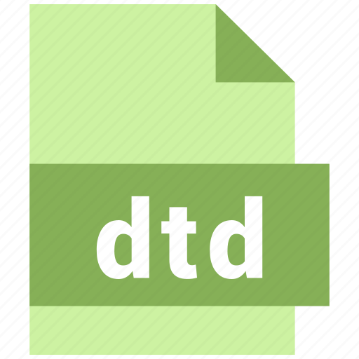 dtd, misc file format icon