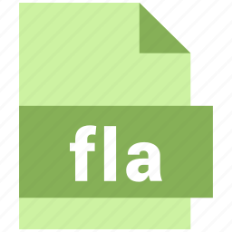 fla, misc file format icon