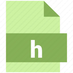 h, misc file format icon