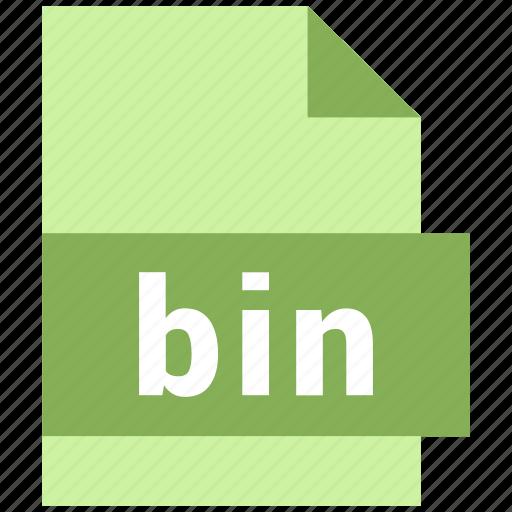 bin, misc file format icon