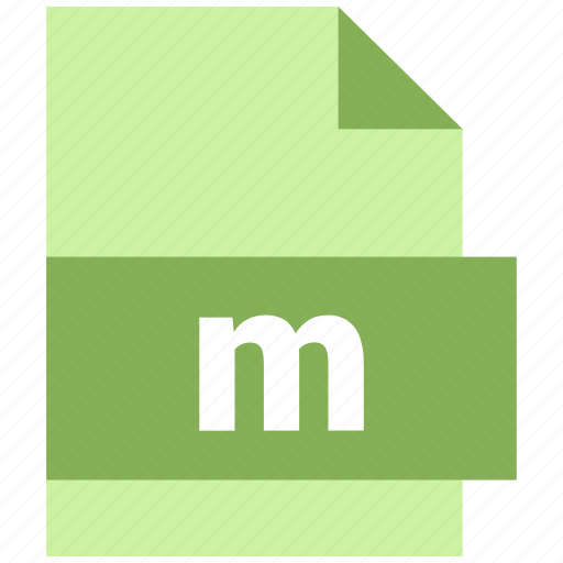 m, misc file format icon