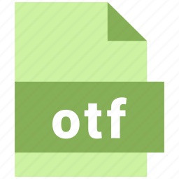 misc file format, otf icon