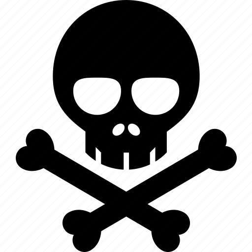 bones, death, poison, skeleton, toxic, toxin, venom icon