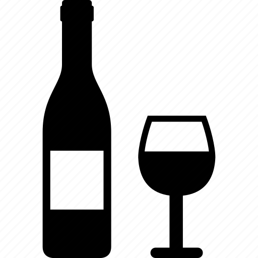 alcohol, bottle, cup, drink, drinking, wine icon