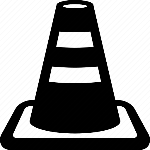 buildinf, cone, construction, repair, security, traffic icon