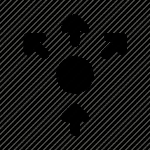 arrows, diffuse, diffusion, light, ray, spread icon