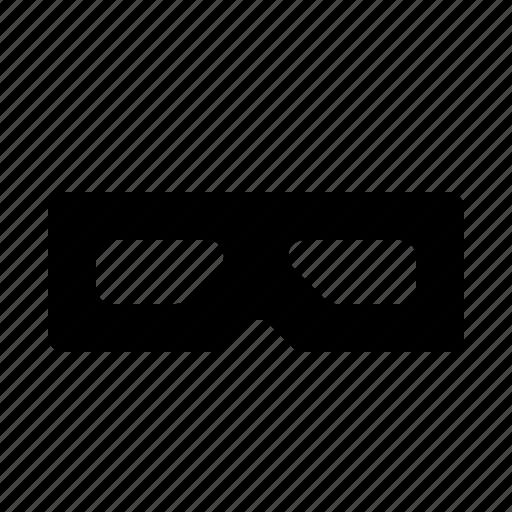 cinema, depth, field, glass, of, stereograph icon