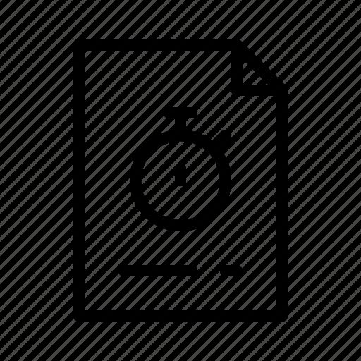 documentation, management, timer, timesheets, timetracking, tracking icon