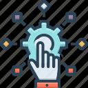adapt, change, conforming, evolution, hand, setting icon