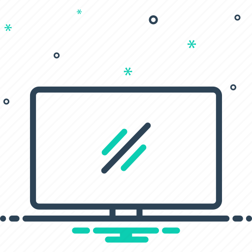 computer, device, digital, electronic, empty, monitor, screen icon