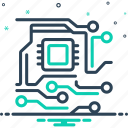 chip, circuit, digital, electronic, memory, microchip, semiconductor icon