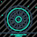 automobile, car, circle, gyre, repair, transportation, wheel icon