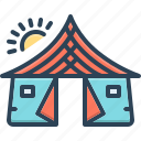 awning, camp, canopy, lodgement, pavilion, tabernacle, tent icon