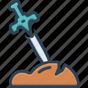 battle, blade, fight, legend, warrior, weapon, weaponry icon