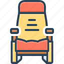 armchair, chair, padding, seat, seating, stool, throne icon