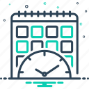 planification, planning, progress, project, schedule icon