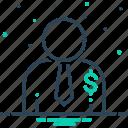 agent, person, salesman, salesperson icon