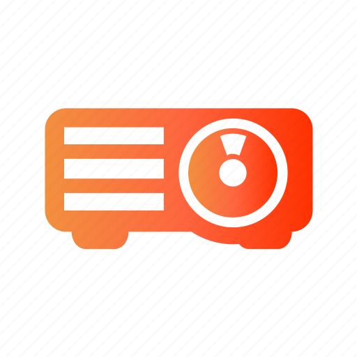 office, presentation, project, projection, projector icon