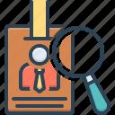 authentication, certificate, documentation, evidence, identity, proof, vindication icon