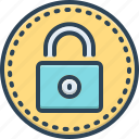 keeping, look, padlock, password, protection, safety, security icon