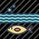 aquarium, aquatic, below, beneath, under, underneath, underwater