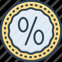 bonus, commission, discount, interest, percentage, price, reduction icon