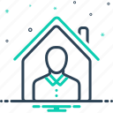 assets, belongings, house, owner, possessions, property, wealth icon