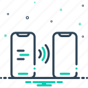 app, contactless, digital, electronic, smartphone, technology, transfer icon